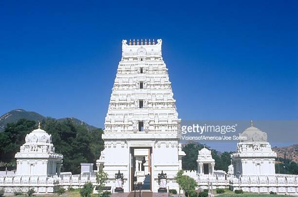 sri venkateshwara temple in malibu california - hinduism stock pictures, royalty-free photos & images