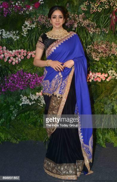 Sridevi at Virat Kohli and Anushka Sharmas reception in Mumbai.
