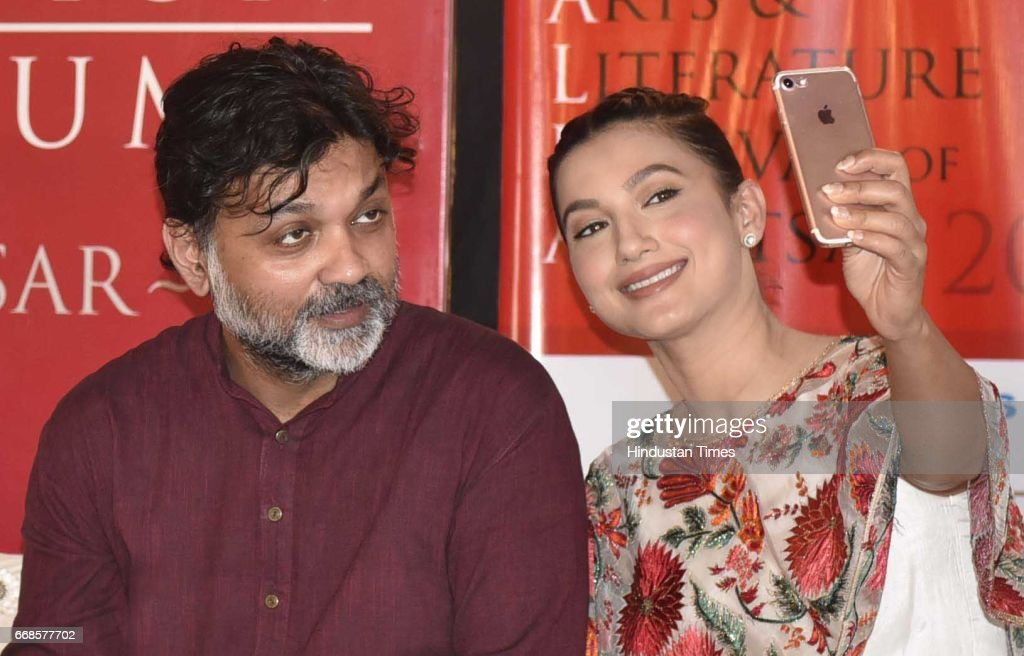 Srijit Mukherji director film Begum Jaan Gauahar Khan film co star visit at Partition Museum on April 14 2017 in Amritsar India Begum Jaan is based...