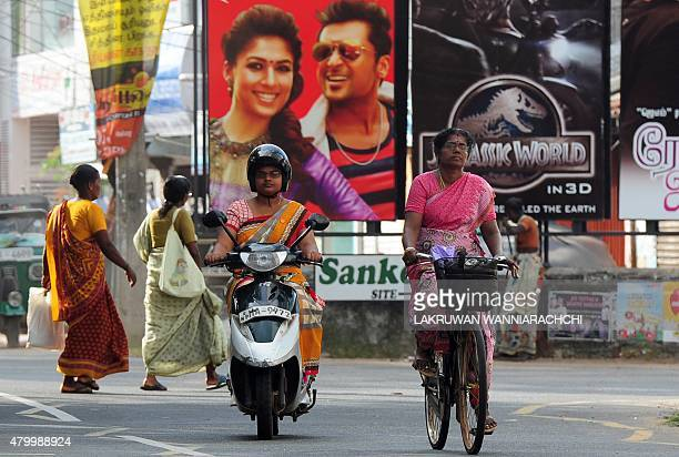 SriLankaconflictmilitarylandFEATURE In this photograph taken on June 10 Sri Lankan Tamil women are seen in Jaffna some 400 kilometres north of the...