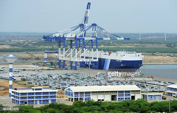 SriLankaeconomyinfrastructureFOCUS by Amal Jayasinghe In this photograph taken on February 10 shows a general view of the port facility at Hambantota...