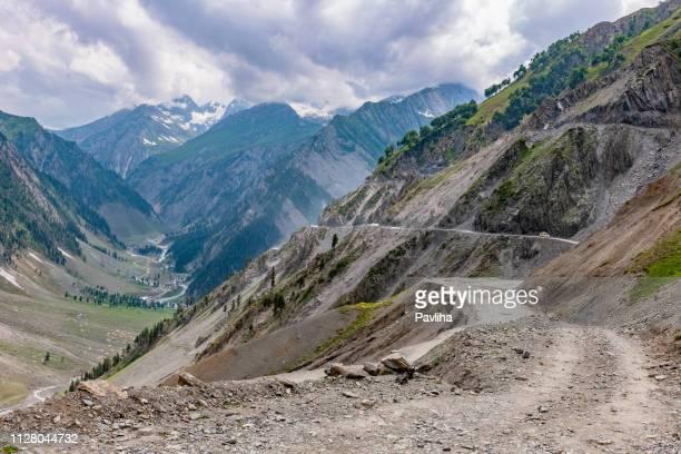 Srinagar-Kargil-Leh Road, Zozila Pass, Jammu en Kashmir, Ladakh regio, Tibet, India,