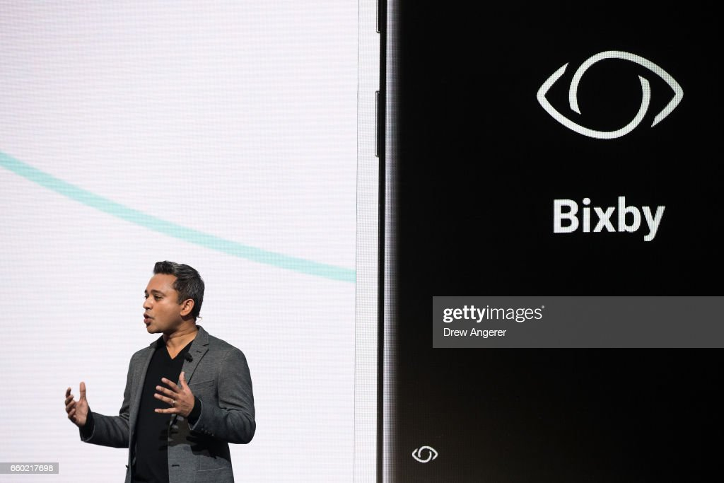 Samsung Unveils New Galaxy S8 Phone : News Photo