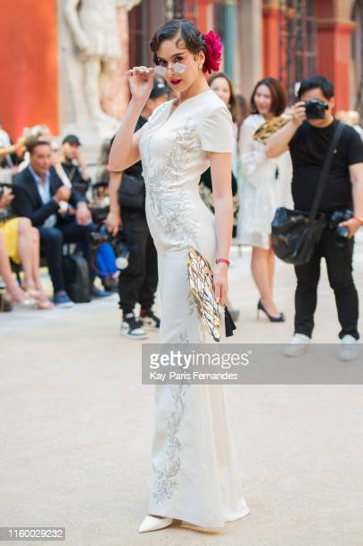 Sririta Jensen attends the Guo Pei Haute Couture Fall/Winter 2019 2020 show as part of Paris Fashion Week on July 03 2019 in Paris France
