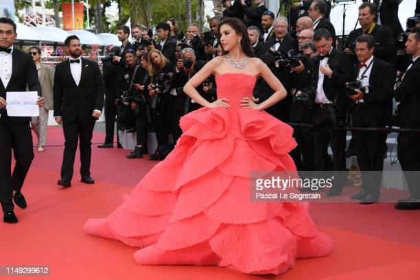 Sririta Jensen attends the screening of Les Miserables during the 72nd annual Cannes Film Festival on May 15 2019 in Cannes France