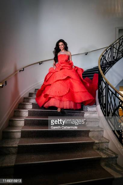 Sririta Jensen leaves the Martinez Hotel during the 72nd annual Cannes Film Festival at on May 15 2019 in Cannes France