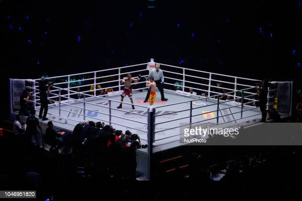 Srisaket Sor Rungvisai of Thailand The Ring and WBC Super Flyweight World Champion defend his title against challenger Iran Diaz of Mexico at the...
