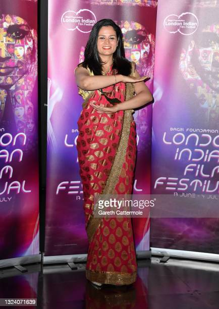 """Srishti Bakshi attends """"WOMB """" Screening and Opening Gala during London Indian Film Festival 2021 at BFI Southbank on June 17, 2021 in London,..."""