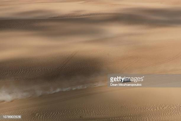 Srt Racing no 356 BUGGY LCR30 car driven by Michael Pisano of France and Valentin Sarreaud of France races on the sand dunes during Stage One of the...