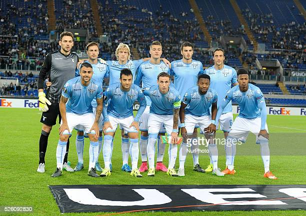 ss Lazio during the Europe League football match SS Lazio vs AS Saint��tienne at the Olympic Stadium in Rome on october 01 2015