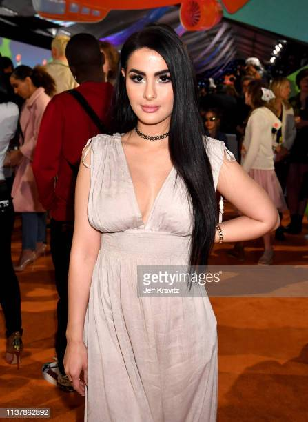SSSniperWolf attends Nickelodeon's 2019 Kids' Choice Awards at Galen Center on March 23 2019 in Los Angeles California