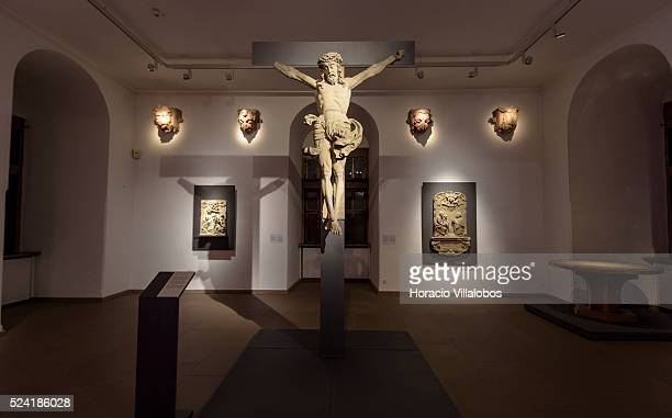 St Agatha church crucifix at Schloss Johannisburg museum in Aschaffenburg Germany 14 May 2015 one of the most important buildings of the Renaissance...