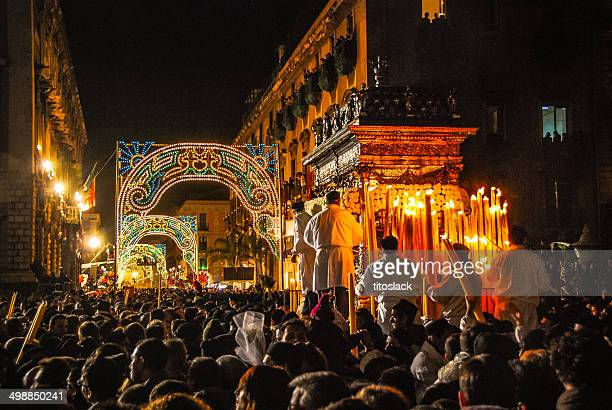 st agatha festival - catania stock photos and pictures