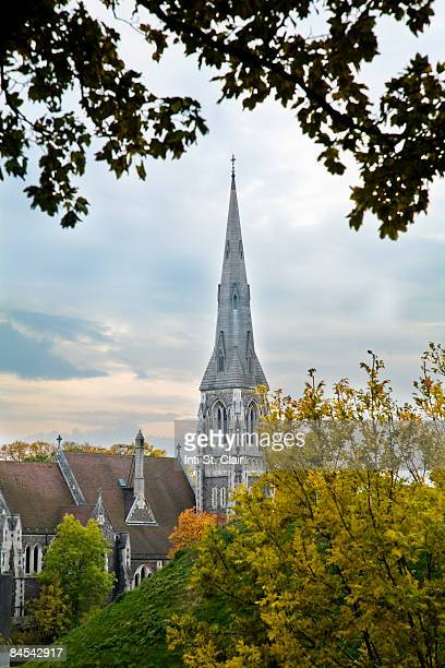 st. alban catholic church, copenhagen, denmark - oresund region stock photos and pictures