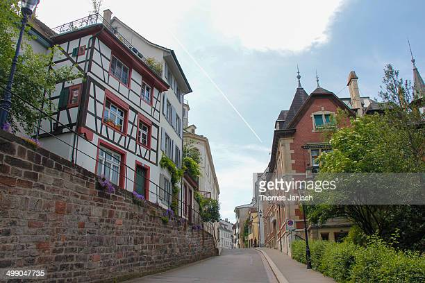st. alban in basel - st. albans stock pictures, royalty-free photos & images