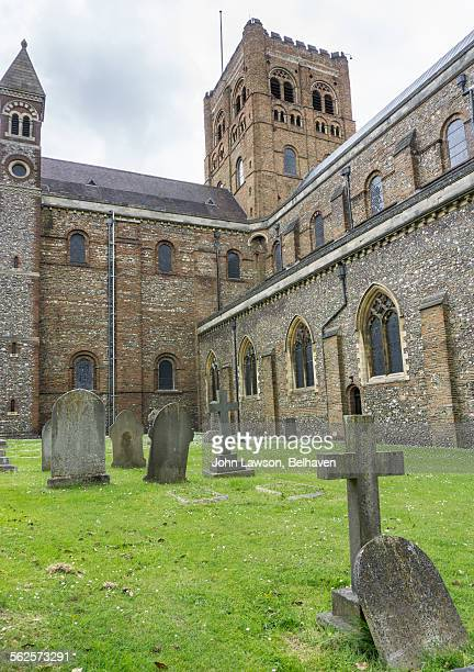 st albans cathedral, st albans, england - st. albans stock pictures, royalty-free photos & images