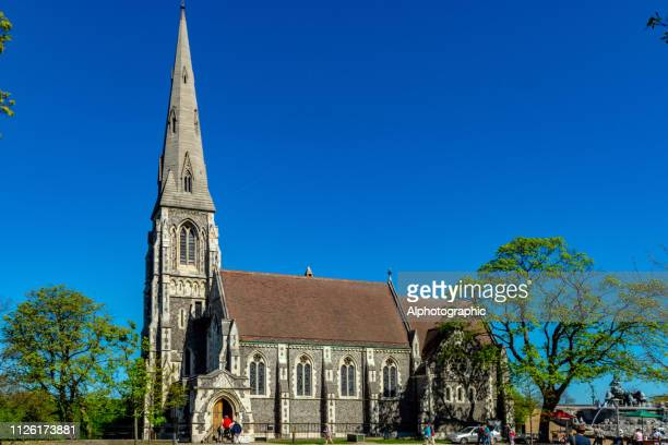 st albans church copenhagen - st. albans stock pictures, royalty-free photos & images