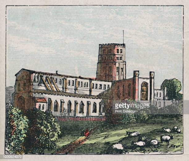 St Albans', circa 1910. 'The Abbey. Founded in honour of England's Proto-martyr, A.D. 796. Straw plaiting. Boots. Shoes. Population 130'. Card from...