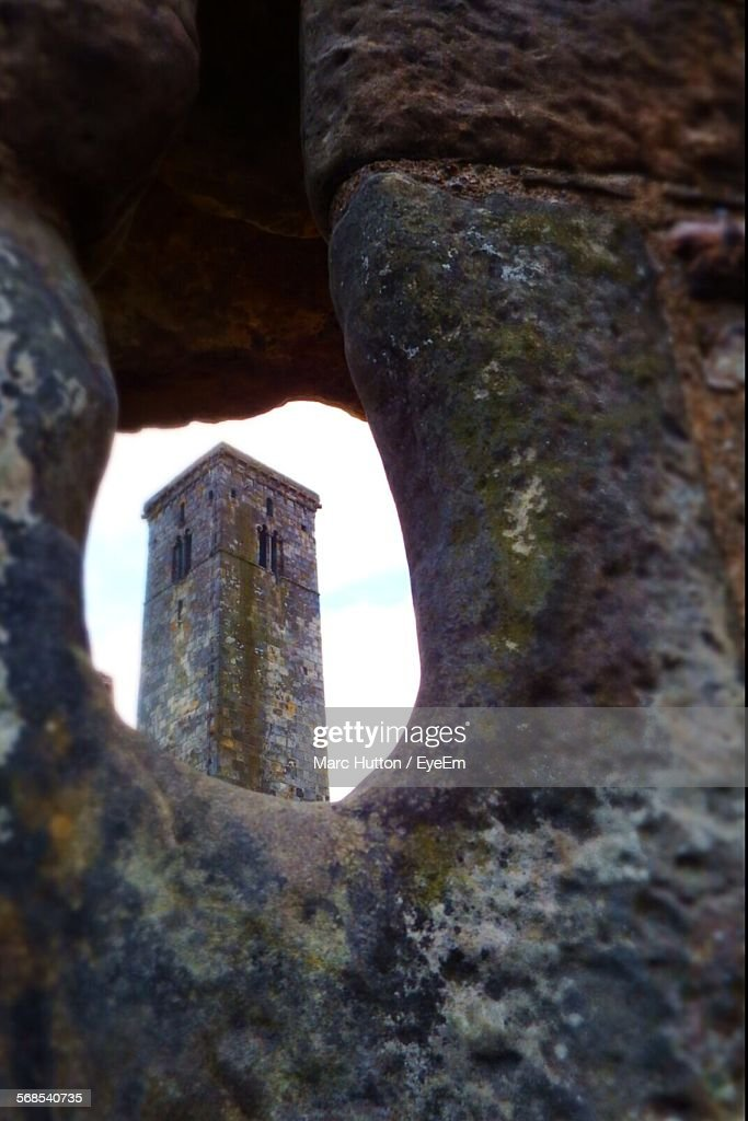 St Andrews Cathedral Seen Through Keyhole : Stock Photo
