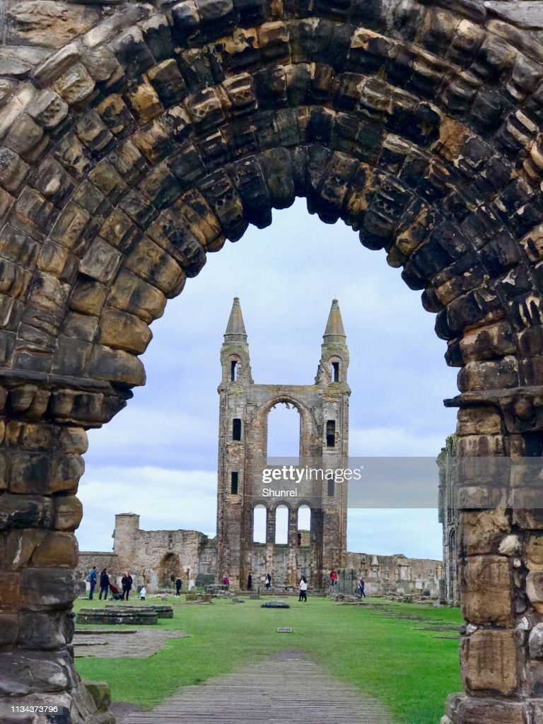 St. Andrews Cathedral, St. Andrews Scotland : Stock Photo
