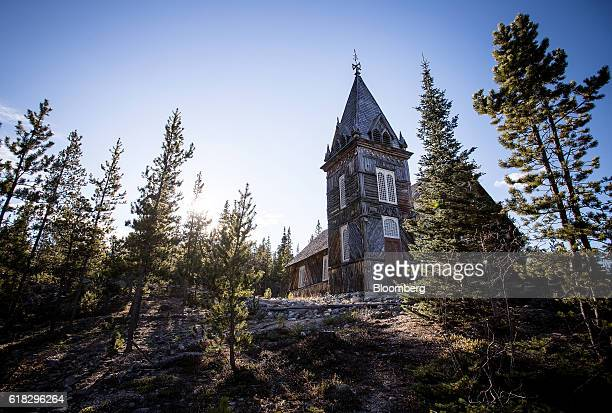 St Andrew's Church built in 1899 stands in the abandoned gold rush town of Bennett British Columbia Canada on Thursday Oct 13 2016 Bennett British...