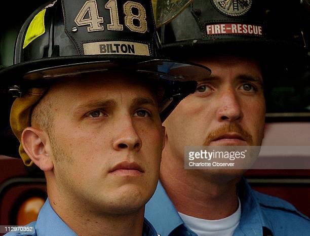 St Andrews firefighters Daniel Bilton and Steven Beasley saved the life of Sofa Super Store employee Jonathan Tyrrell in Charleston South Carolina...
