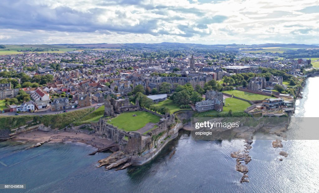 St. Andrews from above : Stock Photo