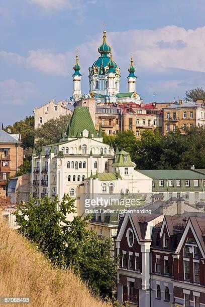St. Andrews Orthodox Church, Podil, Kiev, Ukraine, Europe
