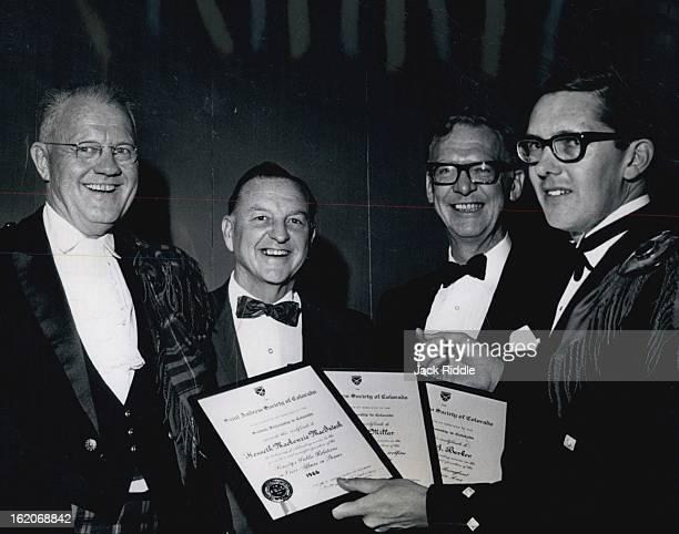 JAN 28 1966 JAN 30 1966 St Andrews Society Celebrates The St Andrew Society of Colorado celebrated its third annual Burns' Nicht supper Saturday...