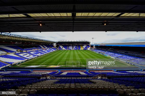 St Andrews stadium general view during the Sky Bet Championship match between Birmingham City and Newcastle United at St Andrews stadium on March 18...