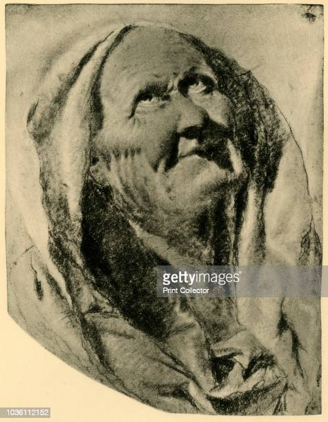 St Anna' mid 18th century 'Head of an old woman looking up ' chalk on paper At one time known to have been in the collection of the late Professor W...