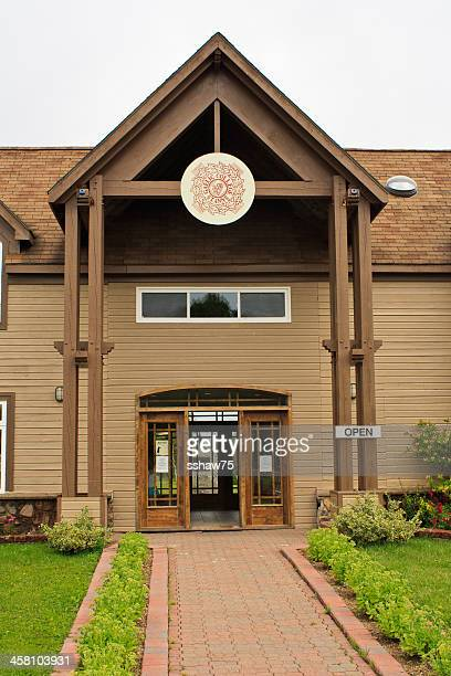 st anne gaelic college entrance - cape breton island stock pictures, royalty-free photos & images