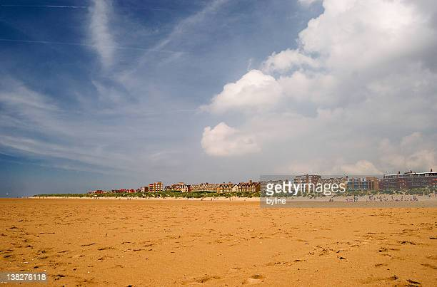 st annes beach - lytham st. annes stock photos and pictures