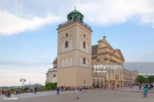 iglesia de santa ana en varsovia - gwengoat fotografías e imágenes de stock