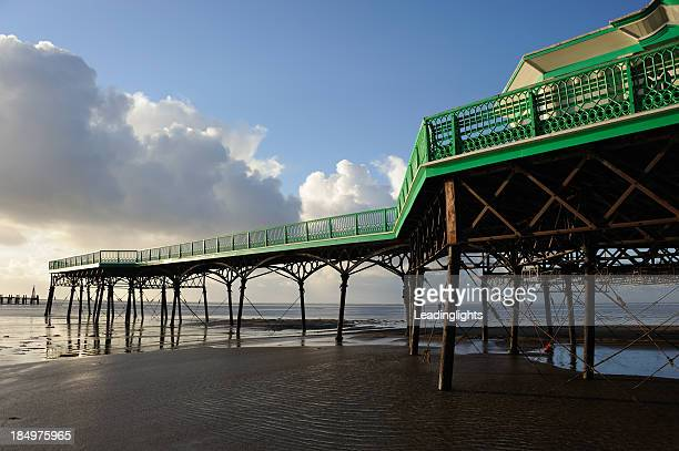 st annes pier - lytham st. annes stock photos and pictures