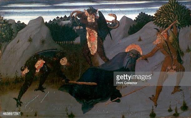 'St Anthony Beaten by Devils' 14231426 Panel from the Altarpiece of the Eucharist