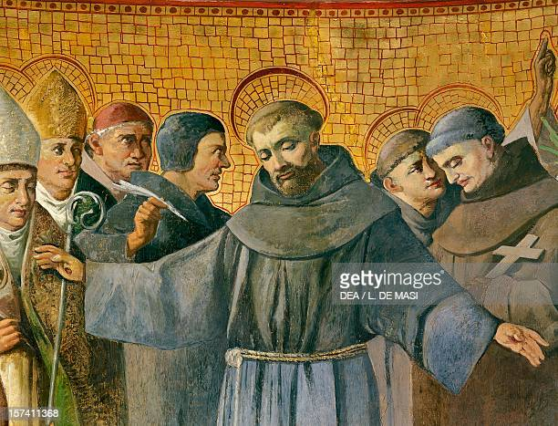 St Anthony detail of the fresco in the apse of the Church of St Anthony of Padua on Via Merulana Rome Italy 19th century