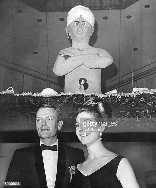 NOV 6 1964 NOV 9 1964 St Anthony's Gala has Arabian Nights Theme Lawrence Phipps III squired Miss Pat Stapleton to the hospital benefit party...