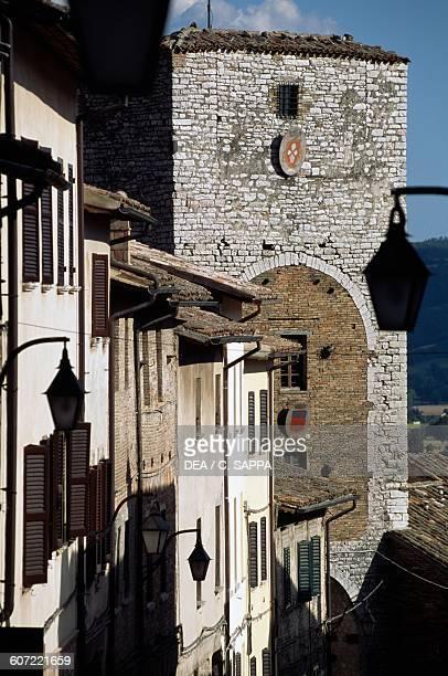 St Augustine city gate, Gubbio, Umbria, Italy, 13th century.