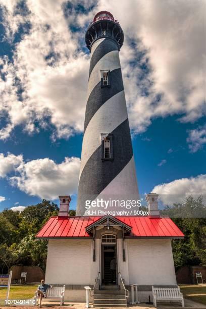 st. augustine florida lighthouse - st augustine lighthouse fotografías e imágenes de stock