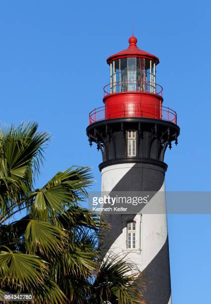 st. augustine, florida lighthouse - st augustine lighthouse stock photos and pictures