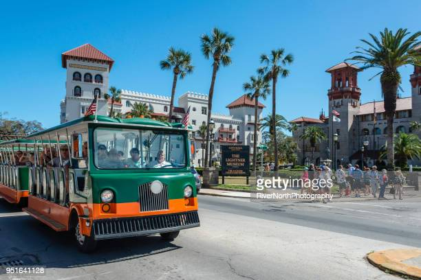 st. augustine, florida street scene - palmetto florida stock pictures, royalty-free photos & images