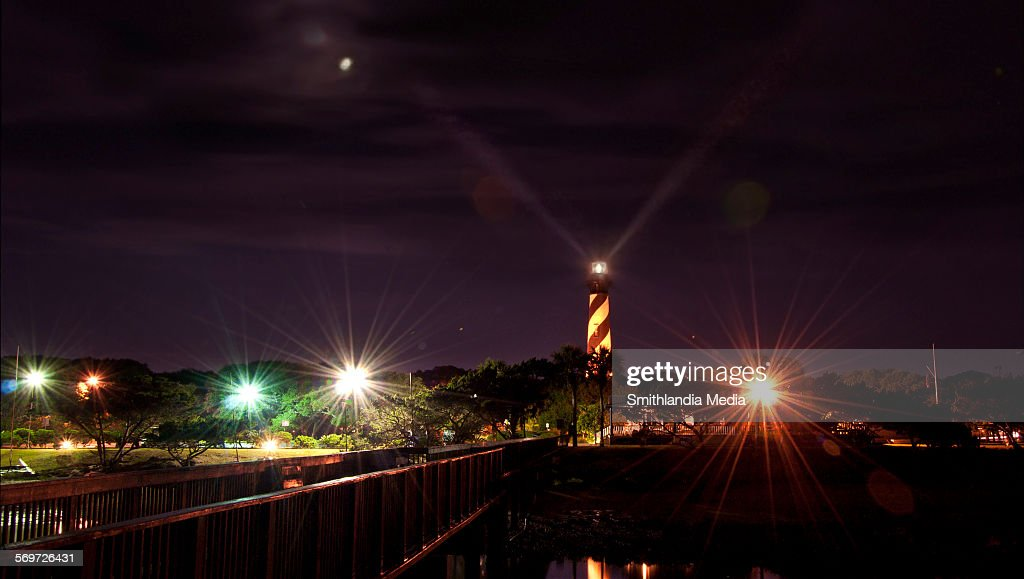 St. Augustine Lighthouse In Operation : Stock Photo