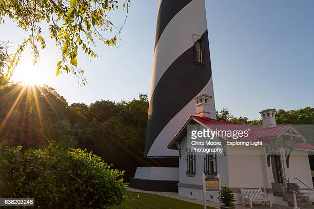 st. augustine lighthouse - st augustine lighthouse stock photos and pictures
