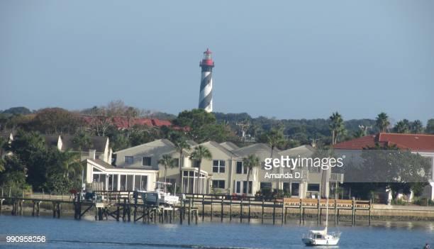 st. augustine lighthouse - st augustine lighthouse fotografías e imágenes de stock