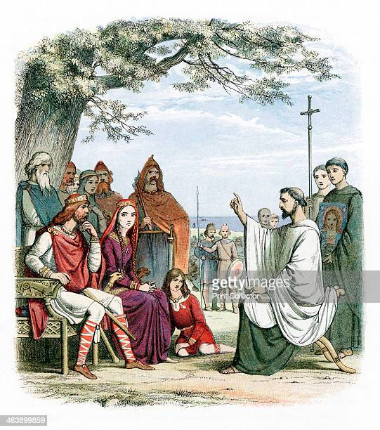 St Augustine of Canterbury Augustine was sent by Pope Gregory I to convert the AngloSaxons to Christianity He is seen here preaching before Ethelbert...