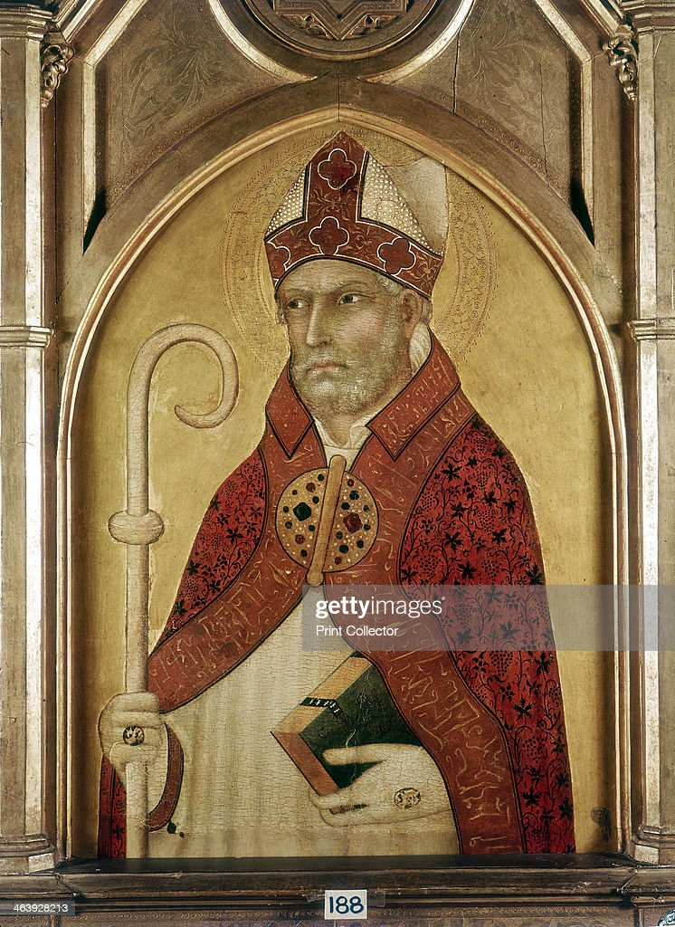 St Augustine of Hippo, early 14th century. Artist: Lippo Memmi : News Photo