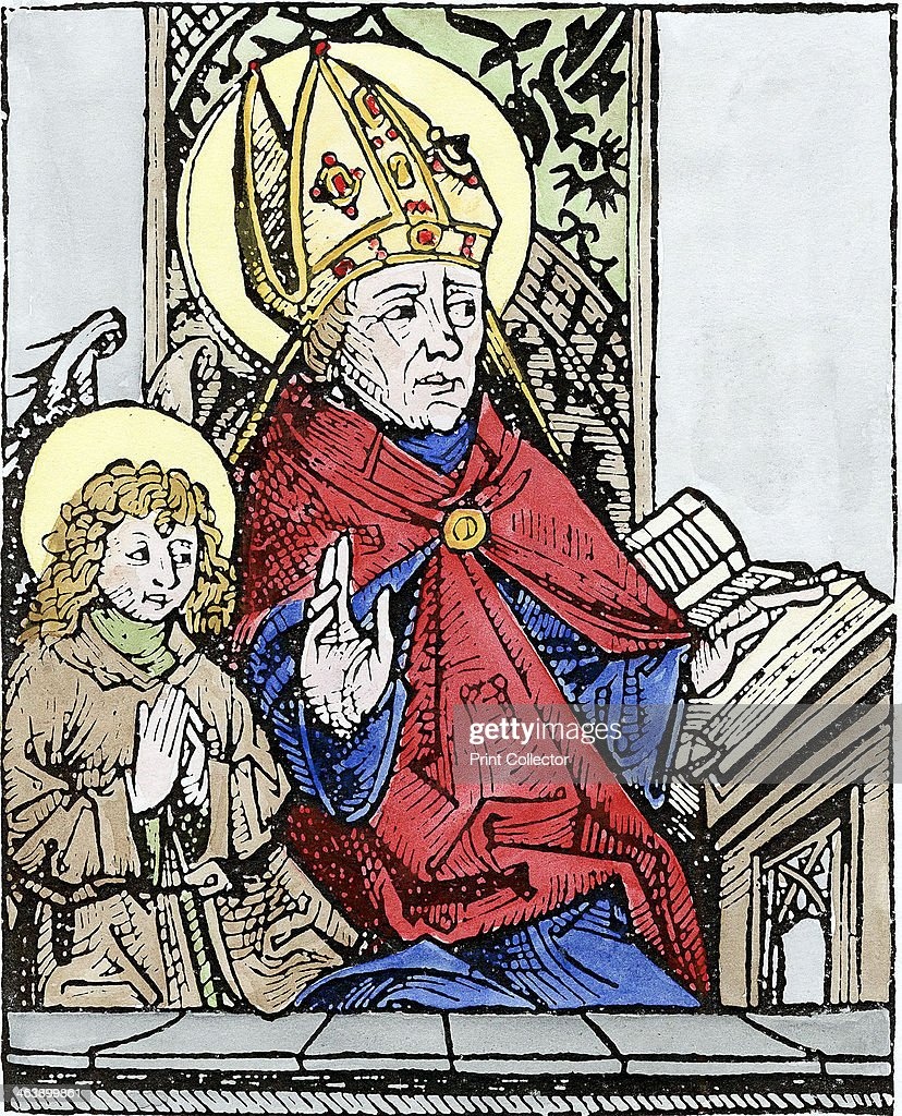 St Augustine of Hippo (350-430), 1493. : News Photo