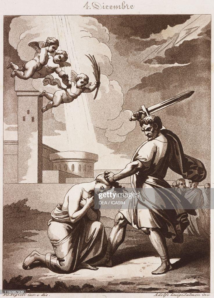 St Barbara, Virgin and Martyr, Calendar of Saints : News Photo