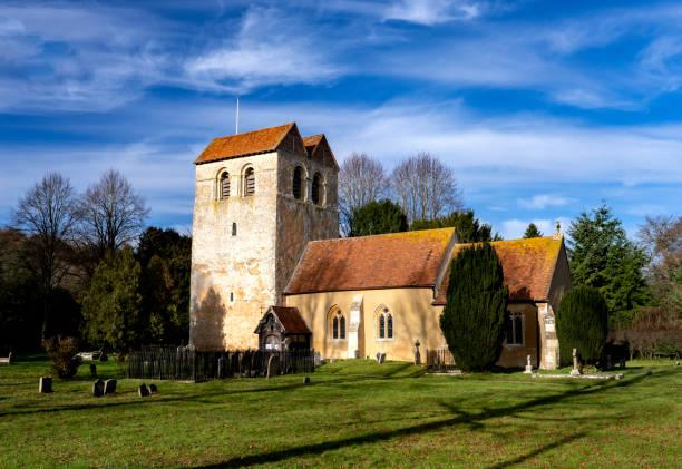 St Bartholomew's Church in the Chiltern Hills village of Fingest, Buckinghamshire